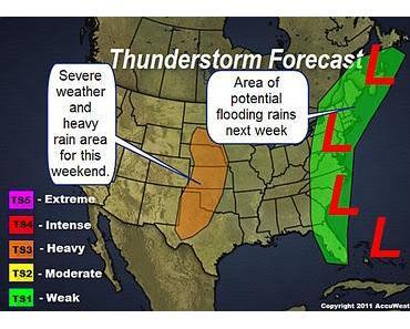Inoffizielle Vorhersage potenzieller Tropischer Sturm RINA bei Florida und der der US-Ostküste