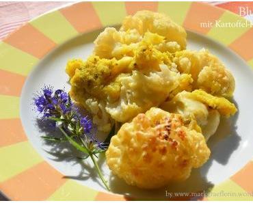 Blumenkohl mit Kartoffel-Kräuter-Creme aus dem Ofen
