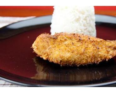 Kokos Schnitzel vom Huhn