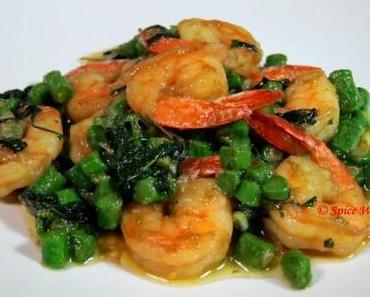 Shrimps mit Thai Basilikum Rezept