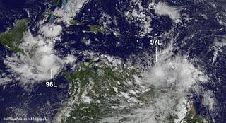 Achtung in der Karibik: Modelle zeigen Hurrikan RINA und Hurrikan SEAN im Anmarsch