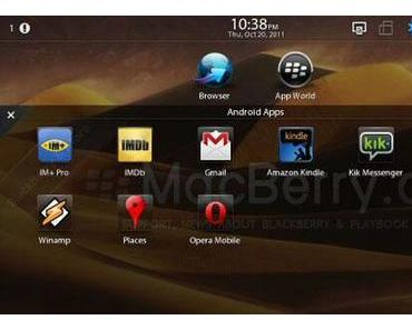Blackberry Playbook läuft mit BBX 2.0 und Android-Apps
