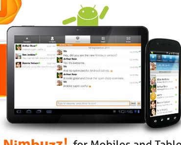 Nimbuzz Messenger für Android-Tablets im Test (Video)