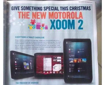 Motorola Xoom 2 soll noch vor Weihnachten für 399 Euro erscheinen. Zumindest in Irland.