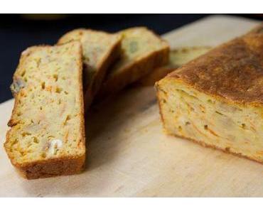 Pikanter Zwiebel-Kürbis Kuchen
