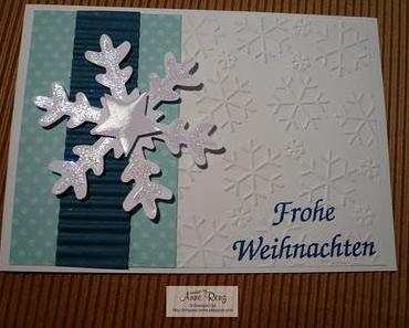 Weihnachtskarten ganz einfach und schnell ...