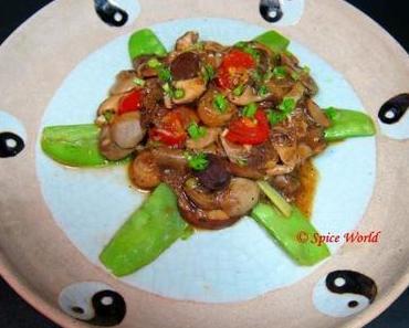 Asiatische Pilzpfanne