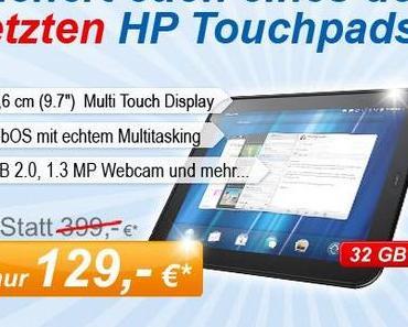 HP TouchPad 32 GB für 129 Euro: Verlosung von 85 Kaufoptionen