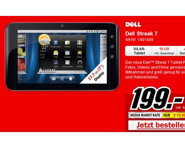 Dell Streak 7: 7 Zoll Honeycomb-Tablet für 199 Euro bei Media Markt