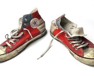#Converse #Schuhe Chuck Taylor All Star Chucks Blau Weiß Rot HI Vintage