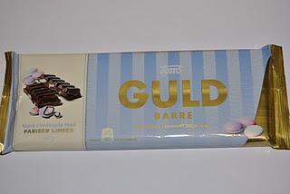 Toms Guld Barre Milchschokolade mit Pariser Linsen, Milchschokolade Haselnuss, Milchschokolade Crunch und Karameller