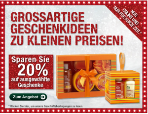 BODY SHOP Aktion!!! 20% auf Cranberry