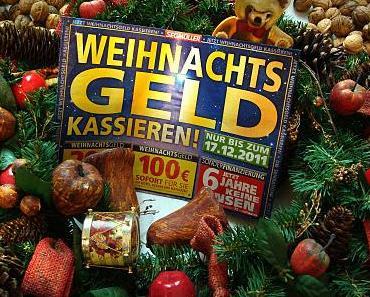 Nur noch heute: Weihnachtsgeld kassieren!