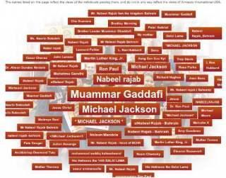 Gaddafi zum Helden der Menschenrechte gewählt