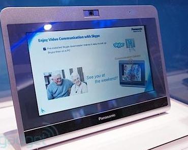 Panasonic zeigt Skype-Tablet auf der CES.