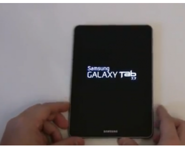 Samsung Galaxy Tab 7.7: deutsches Unboxing