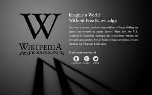 Wikipedia protestiert gegen SOPA und PIPA
