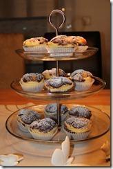 Double Chocolate Cheesecake Muffins & Apfel-Kokos-Kuchen