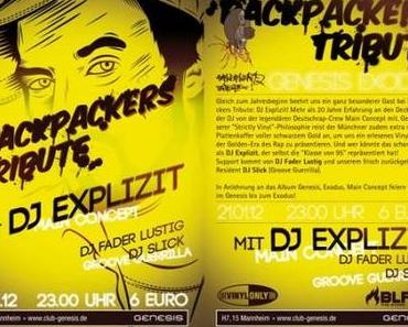 Backpackers Tribute mit DJ Explizit (21.01.2012)