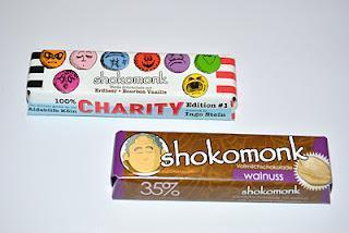 Shokomonk Charity Erdbeer & Bourbon Vanille und Vollmilch Walnuss
