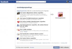 Geburtstagskalender-App bei Facebook – die Kinder der Datenkrake