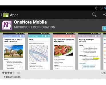 Microsoft OneNote Mobile ab sofort für Android erhältlich