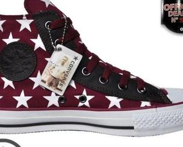 #Converse All Star Chuck Taylor Winter Chucks 511996 Black ROT White Leder #Sterne
