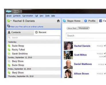 Skype und Facebook tun sich zusammen