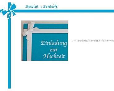Special :: Schleife binden