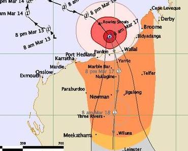 Tropensturm LUA kommt als starker Hurrikan nach Australien