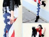 neues IT-Piece trägt: Stars Stripes-Leggin