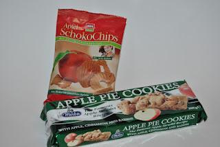 XOX Apfel SchokoChips und Merba Apple Pie Cookies