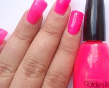 Nails of the Day: Golden Rose - Neon Pink (328)