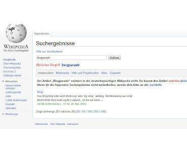 Wissen was die Wikipedia kann und ist - ein Beispiel