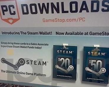 Steam-GameStop USA verkauft Guthabenkarten