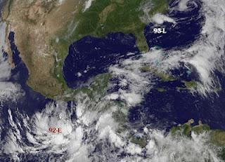 Systeme 92-E (Pazifik) und 93-L (Atlantik, US-Ostküste)