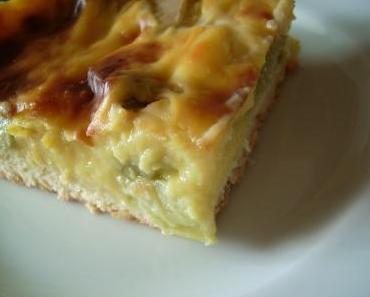 Rhabarber-Schmand-Blechkuchen