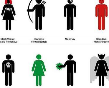 re:design – Superheroes + Supervillains icons
