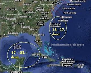 Das Wort zum Mittwoch, 13. Juni 2012: Aktivität in Pazifik und Atlantik steht bevor