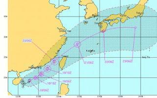 Tropischer Sturm TALIM zieht wahrscheinlich nach Japan