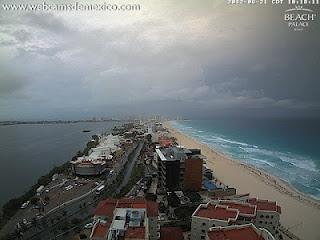 Potentieller Tropischer Sturm DEBBY bei Cancún und Playa del Carmen, Riviera Maya, Yucatán, Mexiko