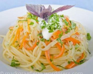 Karotten-Kohlrabi-Pasta