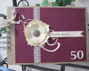 Album und Karte zum 50. Geburtstag