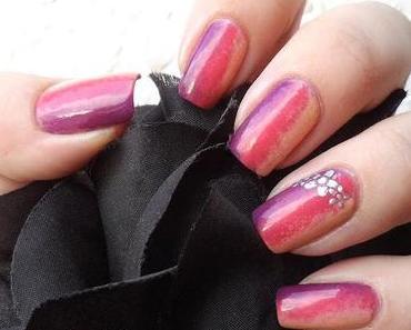 Nageldesign - sideways gradient nails