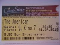 The American (21.09.2010)
