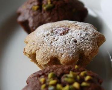 Mini biscuit cake avec muscat et framboises