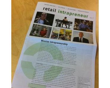 Die Zeitung 'retail intrapreneur'.