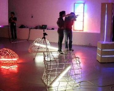 """""""Private Light in Public Spaces"""": Eröffnung der 1. Biennale für Lichtkunst Austria 2010 im Linzer Artpark"""