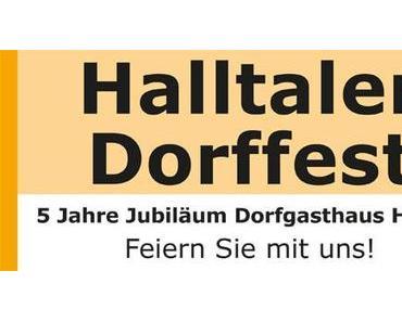 Halltaler Dorffest – Vorankündigung