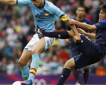 """Fussball: Spanien verliert """"überraschend"""" olympisches Auftakt-Spiel 0:1"""